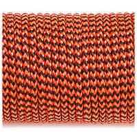 Верёвка Minicord (2.2 mm), orange black wave #377-2
