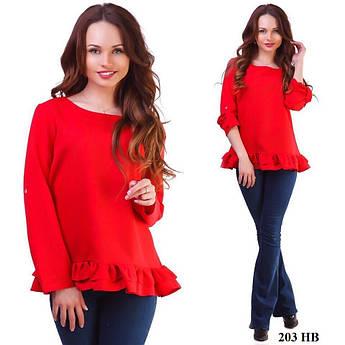Блуза жіноча з довгим рукавом 203 НВ