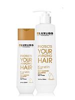 Шампунь очищающий с кератином LuxLiss Keratin Deep cleansing Shampoo 250 мл