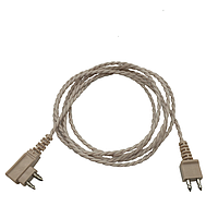 Шнур 2-х контактный для карманного слухового аппарата