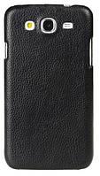 Кожаный чехол-накладка для телефона Melkco Snap leather cover for Samsung i9152 Galaxy Mega 5.8, black (SSMG91LOLT1BKLC)