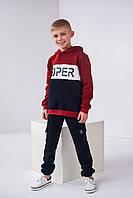Детский свитшот Диней 4468 на мальчика 8-12 лет 128 бордо