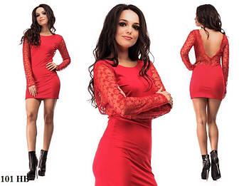 Жіноче плаття з відкритою спиною 101 НВ, червоний 42-44размер