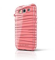 Резиновый чехол-накладка для телефона MUSUBO Rubber Band back cover for Samsung i9300 Galaxy S III, rose pink (MU11016RK)