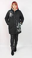 Женская теплая джинсовая куртка La Busca Турция 50-56 р.