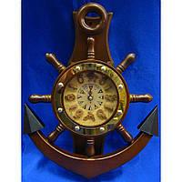Часы-якорь с маятником (41,5х31х6,5 см)