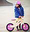 Деревянный велосипед без педалей TUPTUP розовый+защитный шлем, фото 6