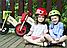 Деревянный велосипед без педалей TUPTUP розовый+защитный шлем, фото 7