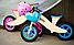 Деревянный велосипед без педалей TUPTUP розовый+защитный шлем, фото 10