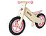 Деревянный велосипед без педалей TUPTUP розовый+защитный шлем, фото 2