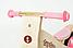 Деревянный велосипед без педалей TUPTUP розовый+защитный шлем, фото 3
