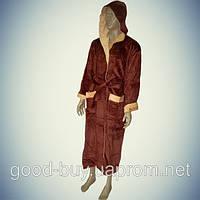 Мужской  халат с капюшоном Alchera-plains100% хлопок Турция