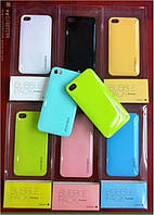 Пластиковый чехол-накладка для телефона Bubblepack case+card iPhone 4