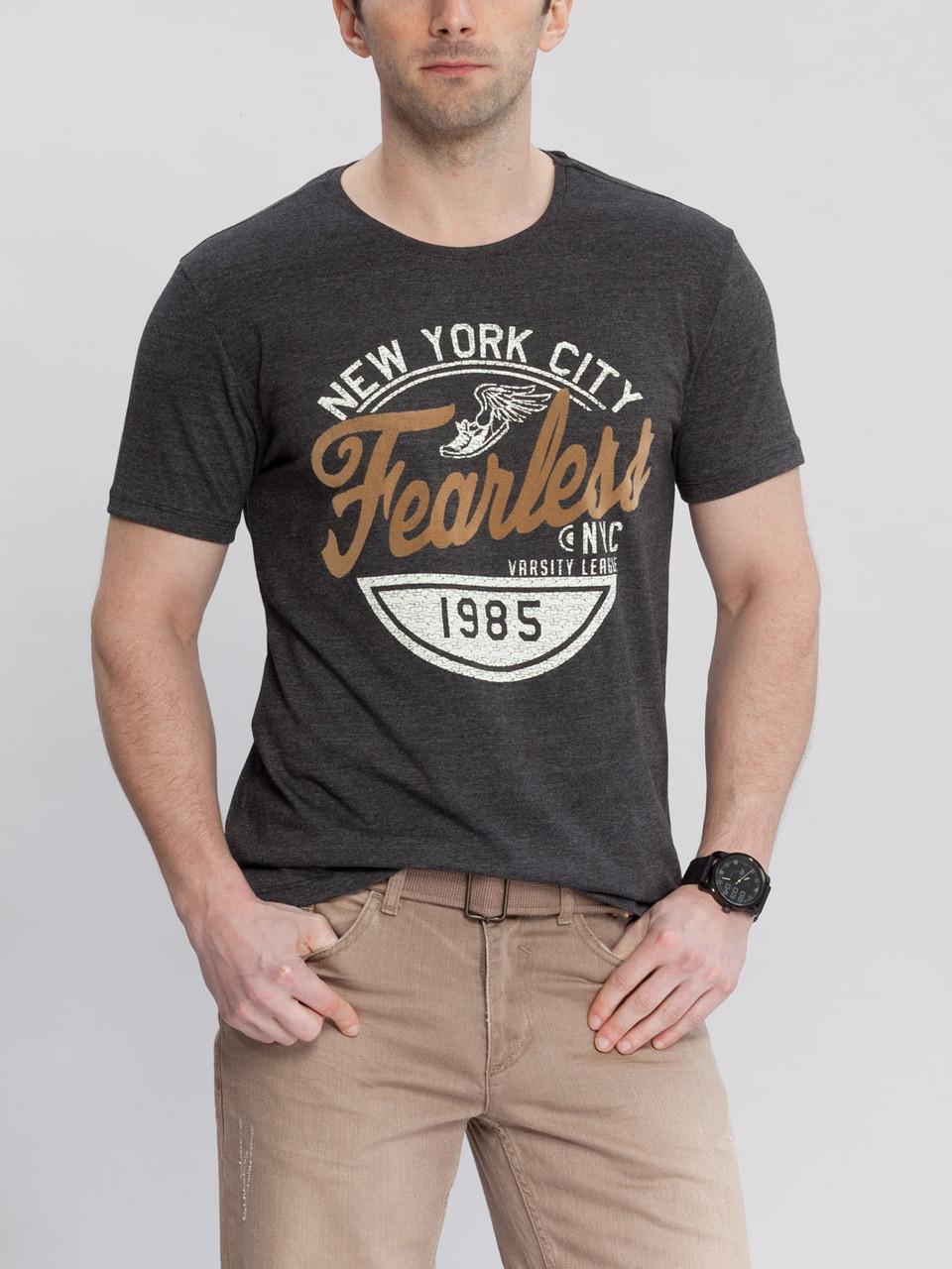 Серая мужская футболка LC Waikiki / ЛС Вайкики New York city