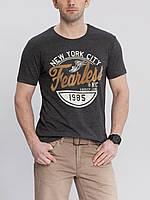 Серая мужская футболка LC Waikiki / ЛС Вайкики New York city, фото 1