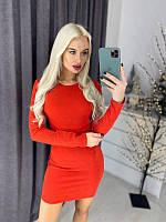 Короткое нарядное платье c люрексом, 2 цвета, с 40 по 46рр