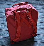Молодежный женский бордовый рюкзак-сумка канкен Fjallraven Kanken classic, фото 4