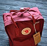 Молодежный женский бордовый рюкзак-сумка канкен Fjallraven Kanken classic, фото 2