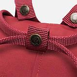 Молодежный женский бордовый рюкзак-сумка канкен Fjallraven Kanken classic, фото 7