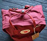 Молодежный женский бордовый рюкзак-сумка канкен Fjallraven Kanken classic, фото 3