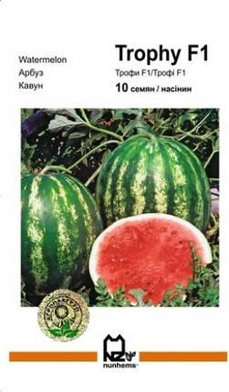 Семена Арбуз Трофи F1 10 сем Nunhems 2034, фото 2