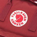 Молодежный женский бордовый рюкзак-сумка канкен Fjallraven Kanken classic, фото 8