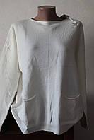 Кофточка белая с карманами