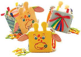 Мягкая игрушка Подвеска-кубик Зоо Жираф-дебошир