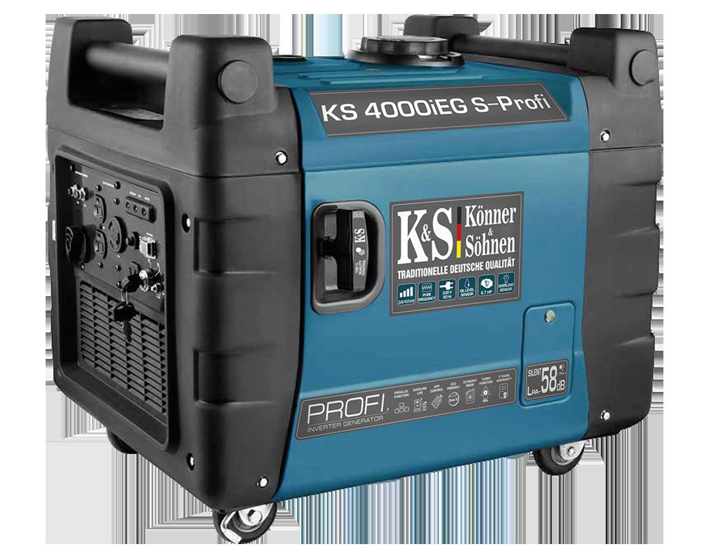 Генератор инверторный газ-бензин Konner&Sohnen KS 4000iESG PROFI (4 кВт)