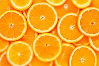3Д Фотообои для кухни нарезанные апельсины разные текстуры , индивидуальный размер