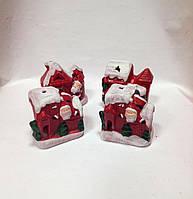 Статуэтка новогодняя, Домик Санты, подсвечник для лед свечи, новогодние сувениры, Днепр, фото 1
