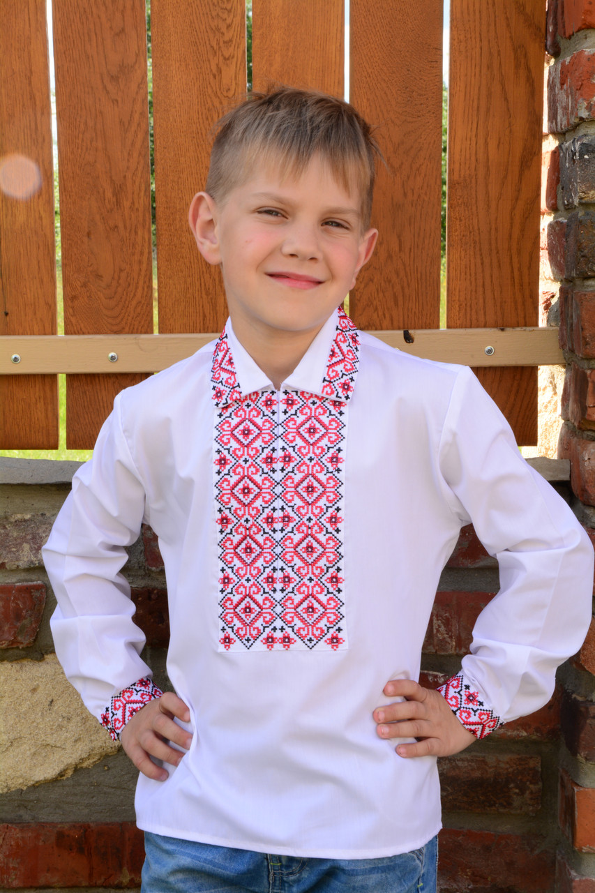 6e46f4dd335d22 Купить Красивая вышиванка для мальчика на длинный рукав