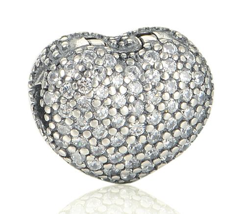 Шарм клипса сердце. серебро 925 - интернет магазин  Eli-stor в Бердянске