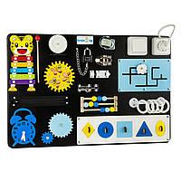 Бизиборд BrainUp Smart Busy Board настольная развивающая игра доска из 18 деталей S40*60 см (6003_2), фото 1