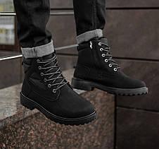 Черевики зимові чоловічі чорного кольору, фото 2