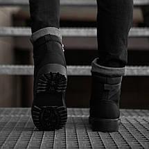 Черевики зимові чоловічі чорного кольору, фото 3