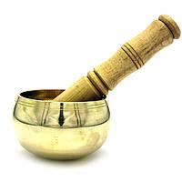 Чаша поющая бронзовая (без резонатора)(d-11 см h-6,5 см)(450 г.)