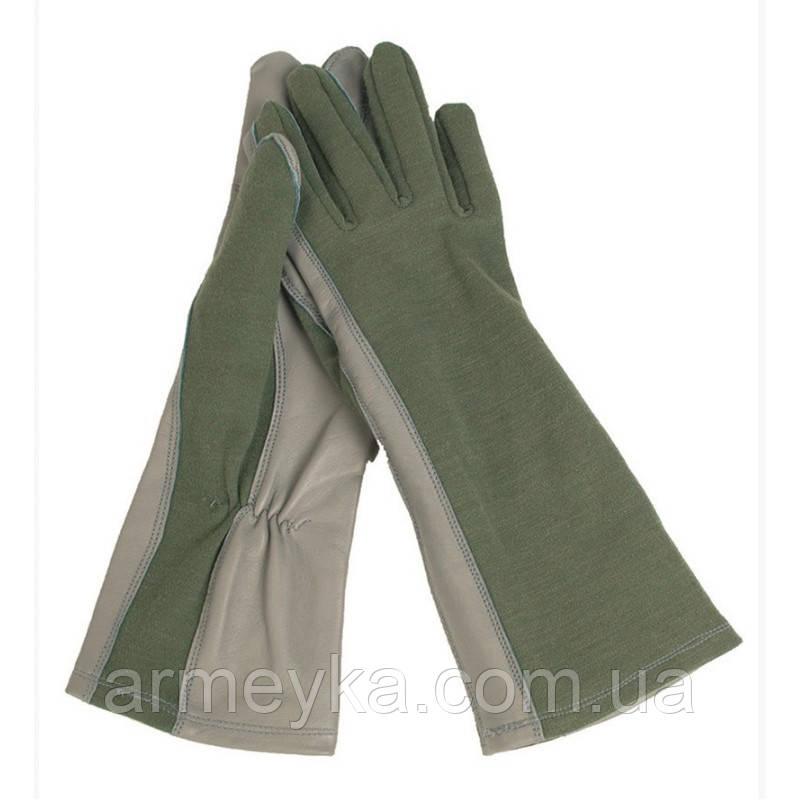 Летные перчатки USA Leder/Nomex, olive. Mil-tec, Германия.