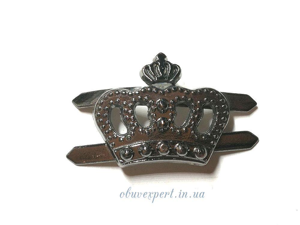 Декор невеликий Корона 18 * 20 мм Чорний нікель