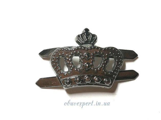 Декор невеликий Корона 18 * 20 мм Чорний нікель, фото 2