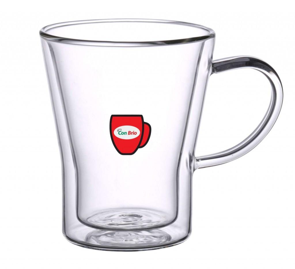 Набор чашек с двойными стенками 6 шт 350 мл Con Brio CB-8535