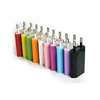 Сетевое зарядное устройство USB для Apple разные цвета