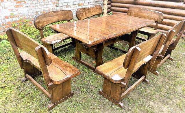 Дизайнерська дерев'яні меблі ручної роботи з масиву натурального дерева під замовлення, фото