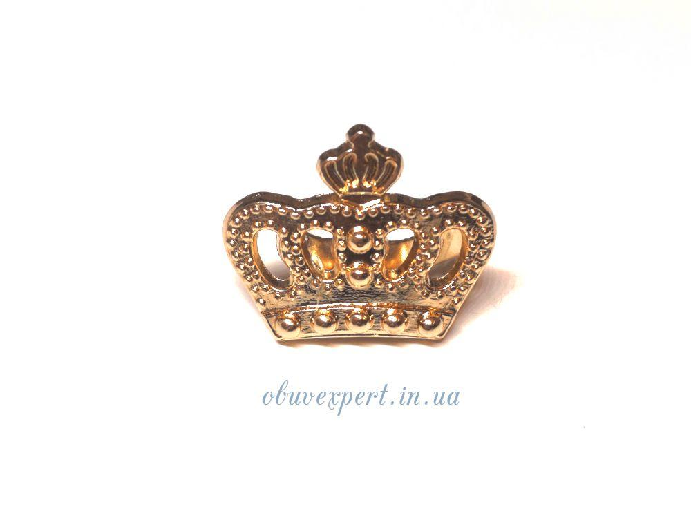 Декор мелкий Корона 18*20 мм Золото