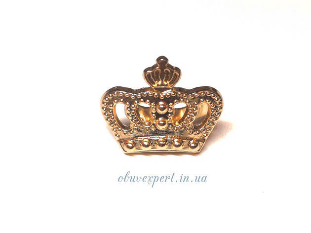 Декор мелкий Корона 18*20 мм Золото, фото 2