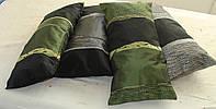 Комплект подушек серебристые  и зелень 4шт, фото 1