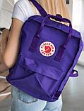 Модный женский фиолетовый рюкзак-сумка канкен Fjallraven Kanken classic на девочку, фото 6