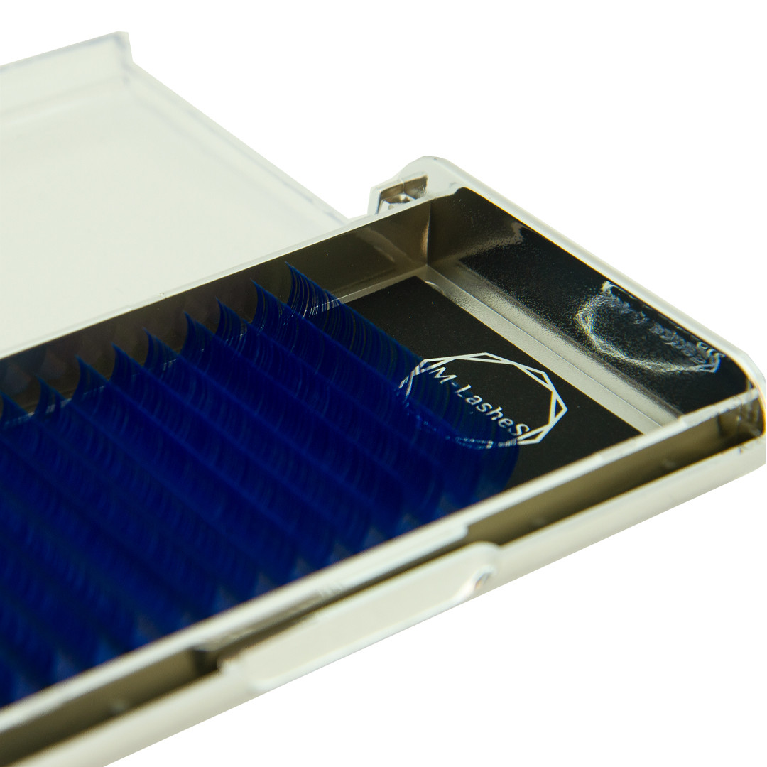Цветные ресницы M-Lashes микс синий