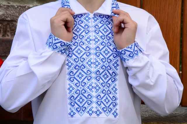 14ebf0c4c7a768 Сорочка вишиванка для хлопчика на кнопках