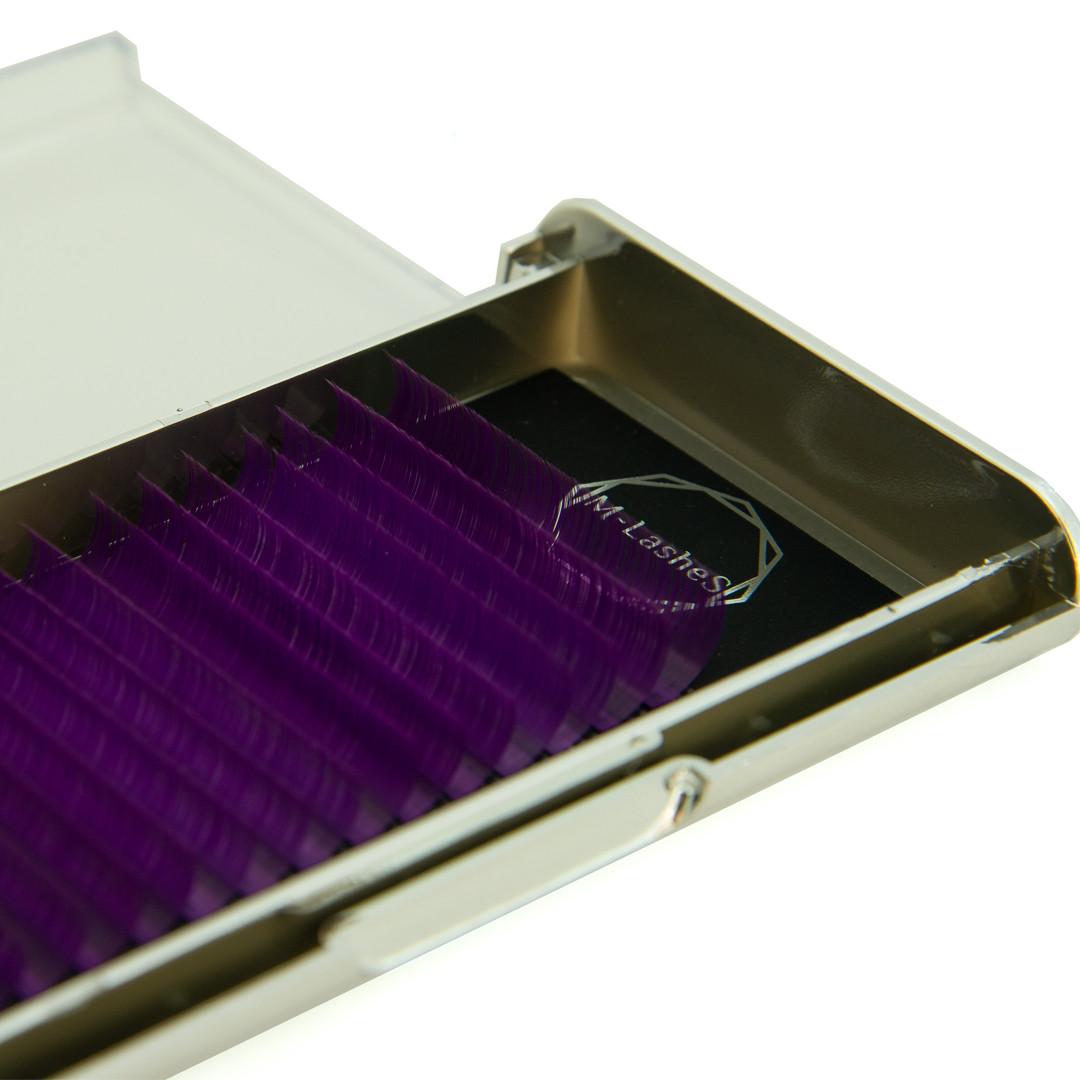 Цветные ресницы M-Lashes  микс фиолетовый
